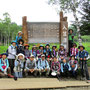 再び「入笠湿原」へ。参加者全員で記念撮影。
