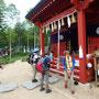 二荒山神社で安全登山のお参りです。