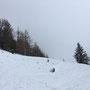 Abstiegsweg über Wiesen.