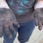Gummimatten machen schwarze Finger …