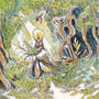 12/21/ ☆『 雨上がりの散歩道 』 ---使用*ORAWING PEN0.05、透明水彩、白ペン