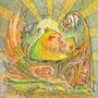02/13/ ☆『 日の出 』 ---使用*マルチライナー茶0.05、透明水彩
