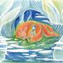 09/11/ 『 雨宿り 』 ---使用*ランプライト水彩紙、シャーペン、透明水彩、白ペン