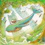 02/13/ ☆『 夢くじら 』 ---使用*マルチライナー茶0.05、透明水彩