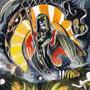 05/08/ ☆『 鼓動 』 ---使用:STAEDTLER pigment liner0.05、透明水彩、ガナッシュホワイト、白ペン