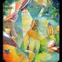 05/08/ ★『 灯りを辿って 』 ---母の日に捧ぐ----使用*マルチライナー赤0.05、透明水彩、白ペン