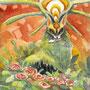 06/19/ ☆『 親愛 』 ---使用:マルチライナー赤0.05、シャーペン、透明水彩、白ペン