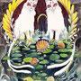 06/11/ 『 一蓮托生 』 ---使用:マルチライナー6色(赤/茶/青/緑/紫/桜)、透明水彩、白ペン