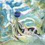 01/05/☆『 お便り 』 ---描いて、送って、友人のもとへ ---使用:STAEDTLER pigment liner0.05、透明水彩、アクリル白