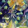 08/29/ 『 Festival 』 ---使用:マルチライナー赤/紫/青0.05、透明水彩、白ペン