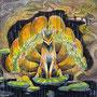 06/12/ ☆『 尾裂狐 』 ---使用:マルチライナー茶0.05、透明水彩、白ペン