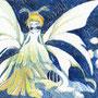 07/31/ ☆『 growth. 』 ---使用*マルチライナー青0.05、透明水彩、白ペン