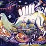 08/28/ 『 千夜一夜 』 ---使用:マルチライナー赤/青/桜/紫、透明水彩、白ペン