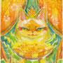 02/14/ 『 幸せの数だけ 』 ---花は咲く--- 使用*マルチライナー茶0.05、透明水彩、白ペン