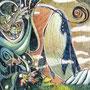 12/12/ ☆『 ノアの方舟 』 ---使用*ORAWING PEN0.05、透明水彩、白ペン