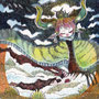 "09/03/ ☆『 Spirit of the end 』 ---終わりの精霊-----Order展.ミニ原画コラボ企画""ラドライドの双眼鏡""出品作) 使用*ORAWING PEN0.05、透明水彩、白ペン"