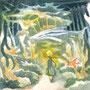 06/19/ 『 竜宮城 』 ---使用:シャーペン、透明水彩、白ペン