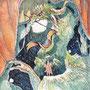 12/12/ ☆『 今日にお別れを 』 ---使用*ORAWING PEN0.05、透明水彩、白ペン