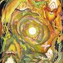 05/15/ ☆『 日の出 』 ---使用*マルチライナー赤0.05、透明水彩