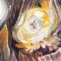 10/14『 雨ノ竜の孵化 』記録の断片_長寿の樹の洞穴に、ひっそり息づく鼓動のト。大地に涙を零し宿る竜。大海原を羽ばたく日は遠からず。いつか破る殻の皮。涙をながす雨ノ竜。