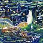 02/28/☆『 きみに贈る 』 ---底のそこでいる限り--- 使用:マルチライナー緑/青/赤/茶0.05、透明水彩、白ペン