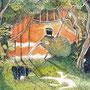 12/12/ ☆『 秋灯 』 ---使用*ORAWING PEN0.05、透明水彩、白ペン