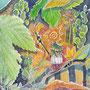 06/28/ ☆『 迷路 』 ---使用*マルチライナー赤0.05、透明水彩、白ペン