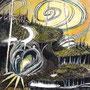 05/08/ 『 新時代 』 ---大地の記憶No.04_ 使用:STAEDTLER pigment liner0.05、透明水彩、珈琲、白ペン