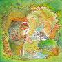02/13/ ☆『 ある日の昼下がり 』 ---使用*マルチライナー茶0.05、透明水彩