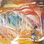 10/11『 砂時計 』記録の断片_ランダムに重力反転する地帯区域。どちらを向いても果てしなく続くような未知なる空間。間違いなく酔うことだろう