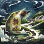 06/12/ 『 大山猫 』 ---使用:STAEDTLER pigment liner0.05、透明水彩、白ペン
