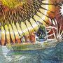 """09/03/ ☆『 シナプス 』 ---Order展.ミニ原画コラボ企画""""ラドライドの双眼鏡""""出品作-----使用*ORAWING PEN0.05、透明水彩、白ペン"""