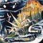 05/05/ ☆『 再生 』 ---使用:STAEDTLER pigment liner0.05、透明水彩、ガナッシュホワイト、白ペン