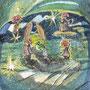 """09/03/☆『 Fairy star vision 』---星視の妖精) Order展.ミニ原画コラボ企画""""ラドライドの双眼鏡""""出品作) 使用*ORAWING PEN0.05、透明水彩、白ペン"""