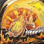 06/12/ ☆『 火鼠 』 ---使用:マルチライナー赤0.05、透明水彩、白ペン