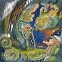 """09/03/ ☆『 歪ノ峡 』 ---Order展.ミニ原画コラボ企画""""ラドライドの双眼鏡""""出品作) 使用*ORAWING PEN0.05、透明水彩、白ペン"""