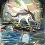 03/21/☆『 獏 』 ---使用:STAEDTLER pigment liner0.05、透明水彩、ガナッシュホワイト、白ペン