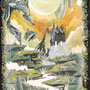 03/17『 陽の使者 』--- 影よ、月よ、待ちわびるそこで  いつか別れた絆を結び  双子の弟との再会を願う --- 透明水彩、珈琲