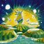07/01『 水面の下で 』 --- 透明水彩(W&N)