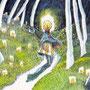 06/29/ ☆『 深夜0時の散歩日和 』 ---使用*ORAWING PEN0.05、透明水彩、白ペン