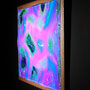 Liquid prism / 2017/ 特殊フィルム・アクリル・木材 / H44×W44×D4cm
