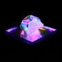 Solid prism/2017/偏光フィルム・アクリル・木材/H6×W10×D6cm