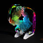 Solid prism/2017/偏光フィルム・アクリル・木材/H20×W20×D5cm