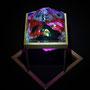 Solid prism/2016/偏光フィルム・アクリル・木材/H20×W12×D12cm