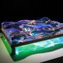 Liqiud prism/2015/偏光フィルム・アクリル・木材/H10×W30×D20cm