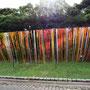 Eyes on prism/2015/偏光フィルム・木材/H300×W1000cm/SUMMER SONIC 2015