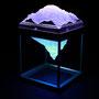 Solid prism/2015/偏光フィルム・アクリル・木材/H18×W11×D11cm