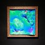 Foam prism / 2017/ 偏光フィルム・アクリル・木材 / H23×W23×D5cm
