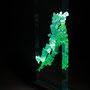 Solid prism/2015/偏光フィルム・アクリル・木材/H62×W21×D6cm