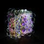 Prismatic square/2016/偏光フィルム・ガラススフィア・アクリル/H15×W15×D11 cm